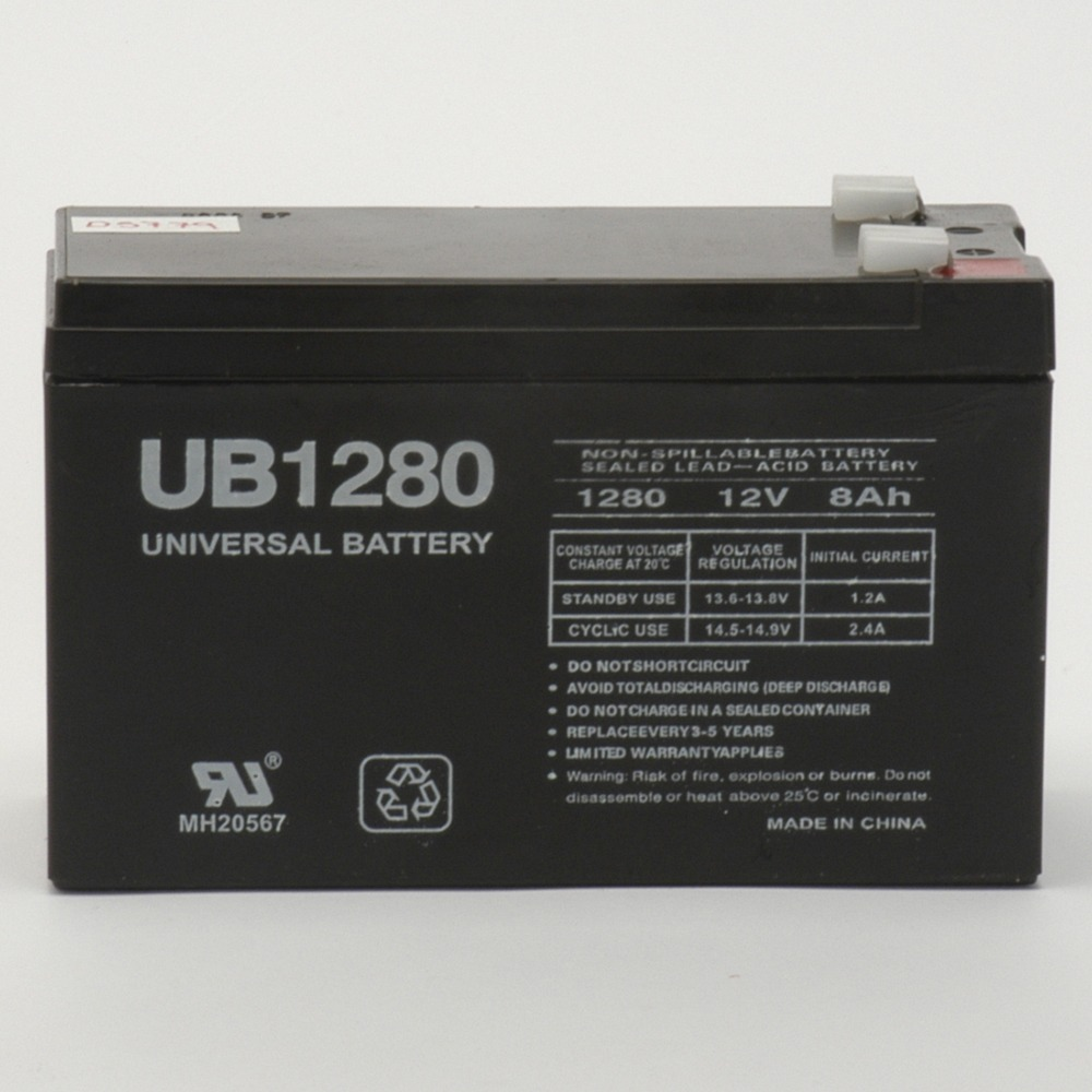 UB1280 12V 8Ah F2 Compatible Battery for APC SmartUPS 1400RM 2200RM3U