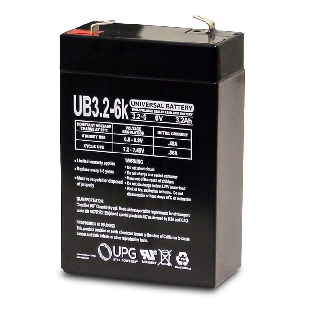 6V 3.2Ah CB3-6 LCR6V3.2P PE6V3.2 PS-632 SL102B Rechargeable Sealed Battery