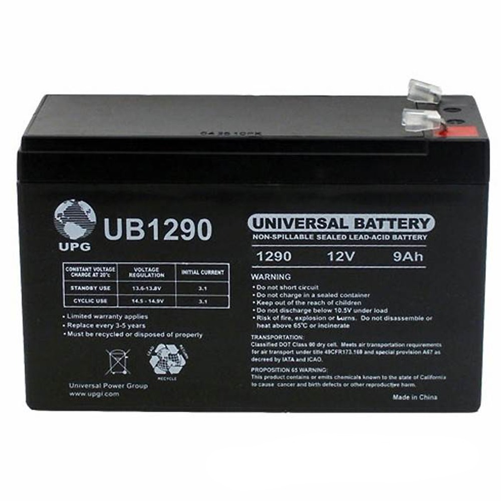 12V 9AH SLA Replacement Battery for ELSAR 16250