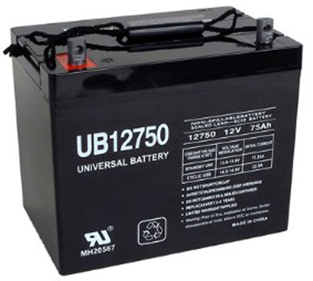 UB12750 -12V 75AH SLA Battery for Grape Solar 300 Watt Off Grid Kit