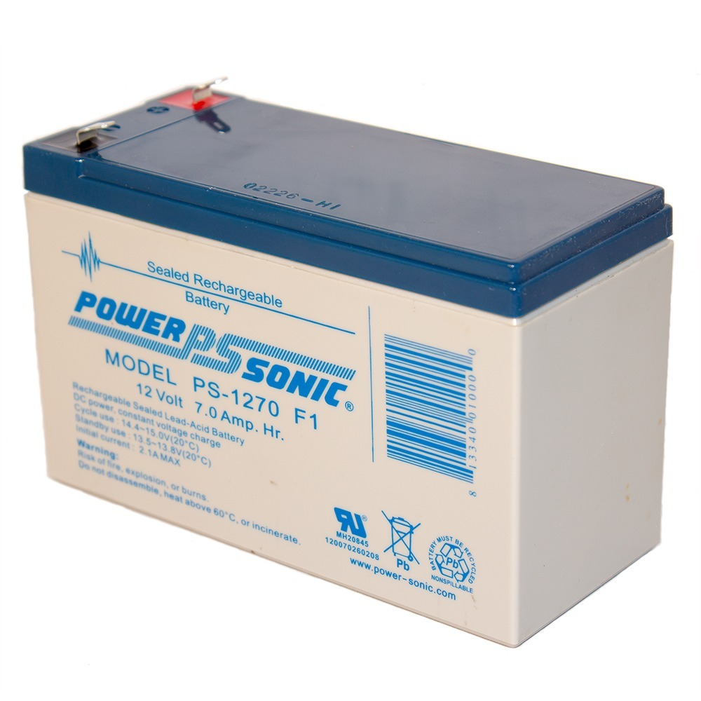 PS-1270 12 Volt 7 Amp Hour Sealed Lead Acid Battery