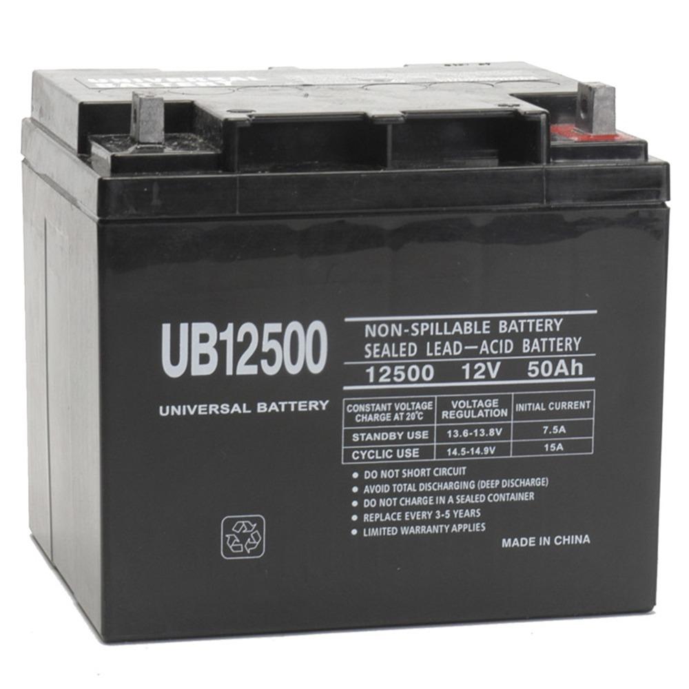 12V 50Ah UB12500 Heartway Sahara H7S, Titan H11, Rumba SF P4F Battery
