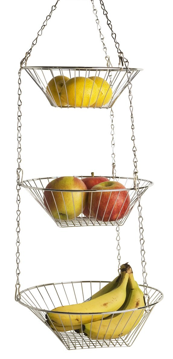 Home Basics Hanging Basket 3-Tier Round