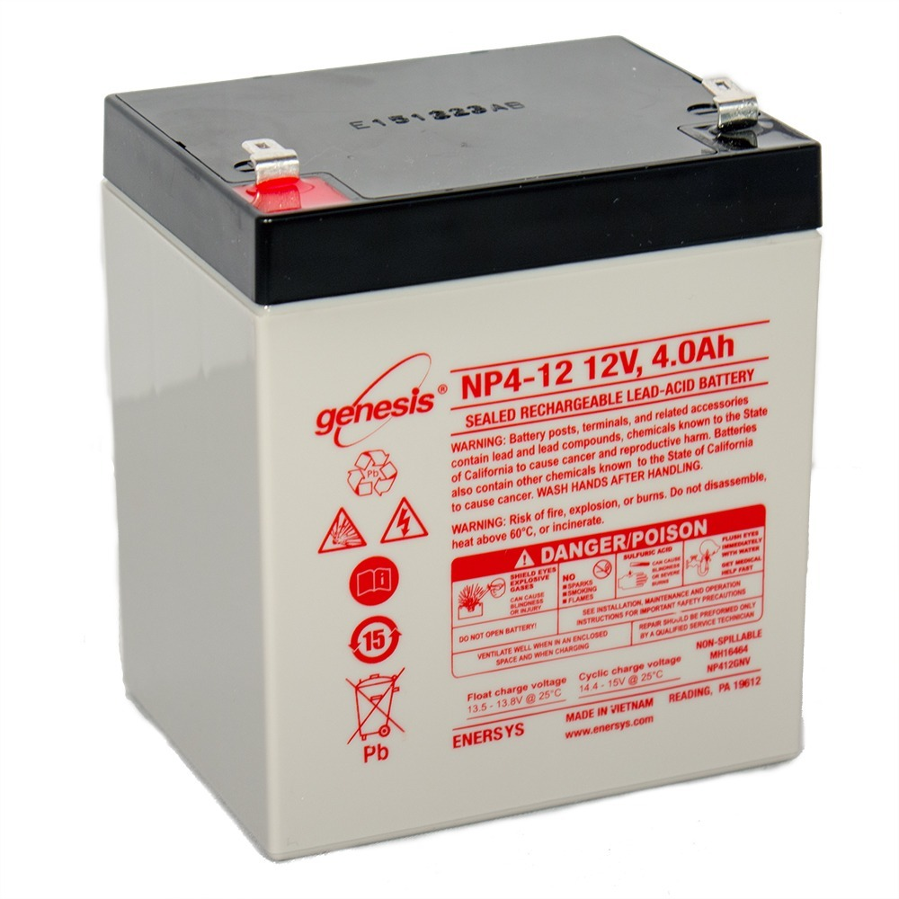 This is an AJC Brand Replacement Yuasa NP5-12A 12V 5Ah Sealed Lead Acid Battery