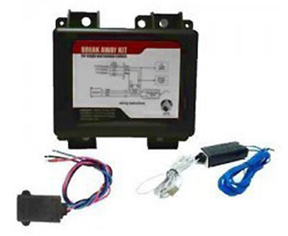 Trailer Breakaway Kit With Charger / Switch / Includes 12V 5AH SLA Battery