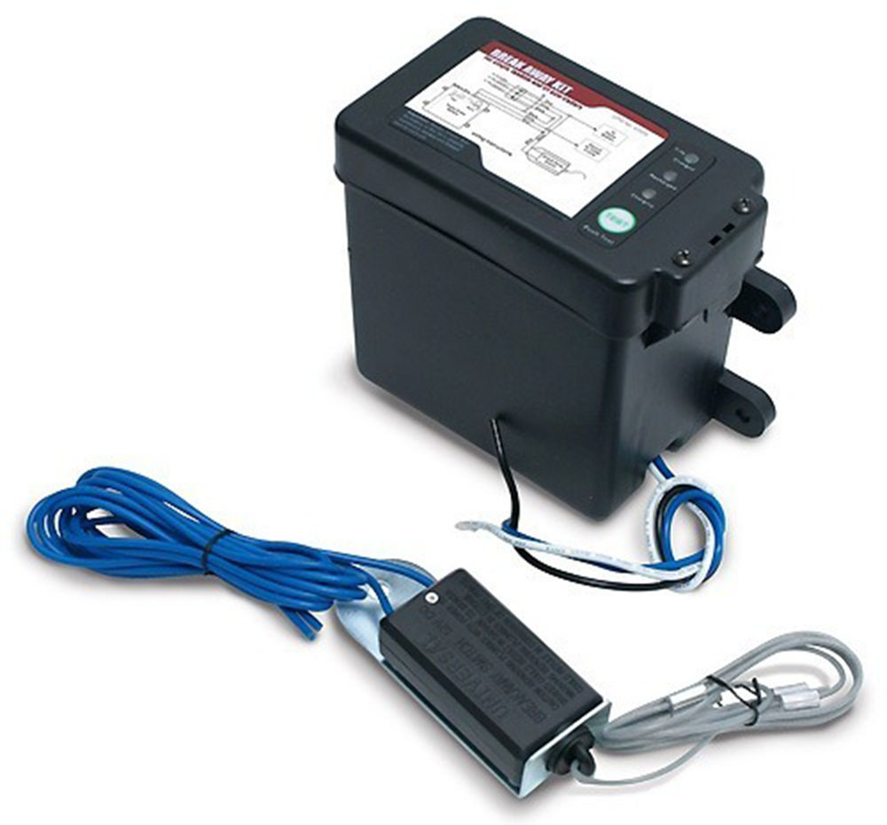 Black Top-Load Breakaway Kit with LED, Charger / Switch / 12V 5AH Battery
