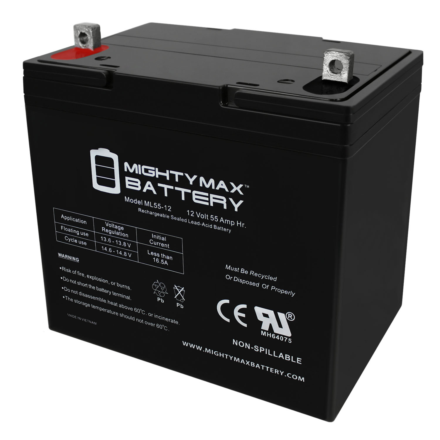12V 55AH Battery for Merits Vision Super (P327/P327-2) Power Chair
