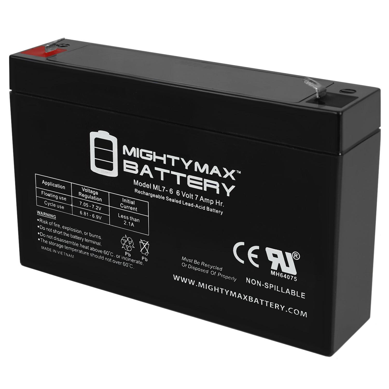 6v 7000 mAh UPS Battery Replacement for GS Portalac PE6V7F1