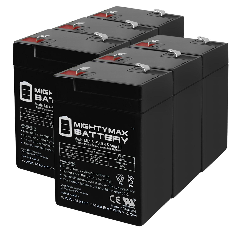 6V 4.5AH Rechargable Game Deer Feeder Predator Caller Battery - 6 Pack