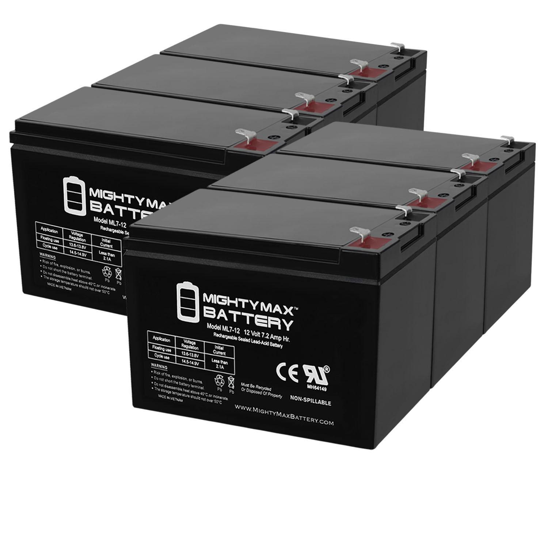 ML7-12 - 12V 7.2AH RAZOR SCOOTER, POCKET ROCKET, SPORT MOD Battery - 6 Pack
