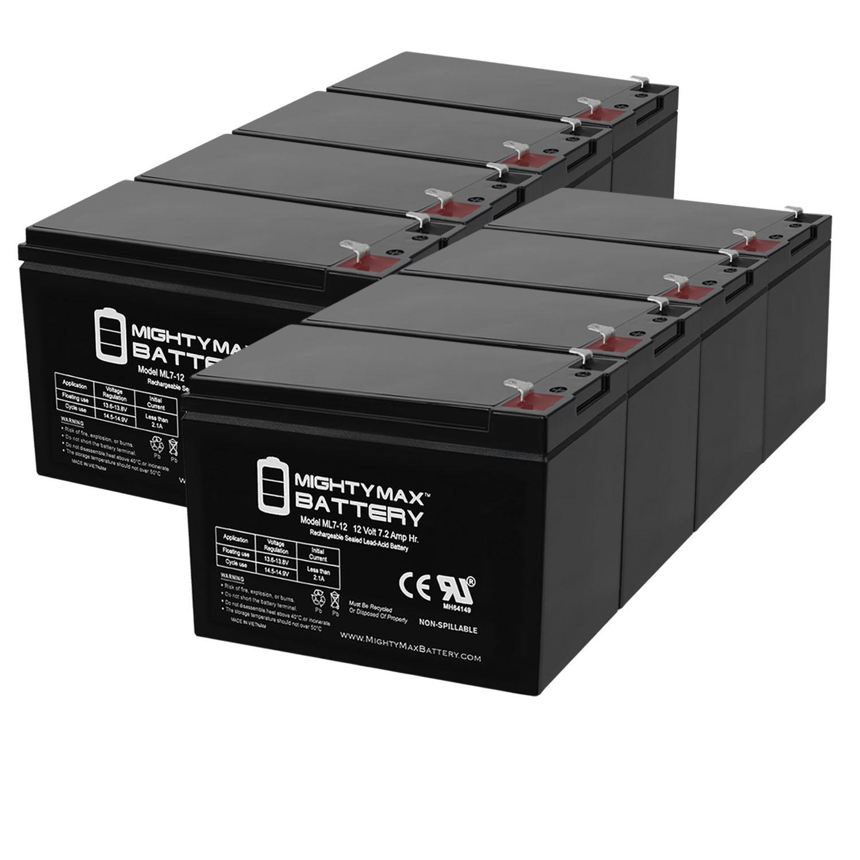 ML7-12 - 12V 7.2AH RAZOR SCOOTER E300S Battery - 8 Pack