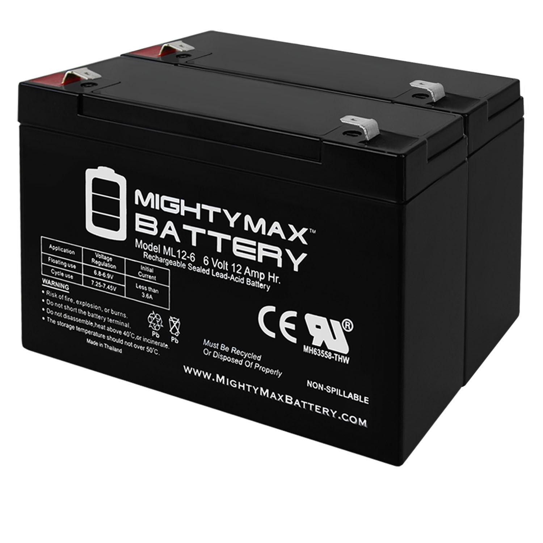 6V 12AH F2 SLA Battery for Davis EZ-SOLAR POWER KIT - 2 Pack