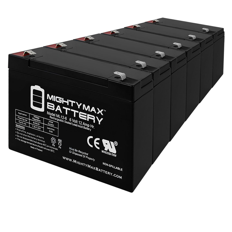 6V 12AH F2 SLA Battery for Davis EZ-SOLAR POWER KIT - 6 Pack