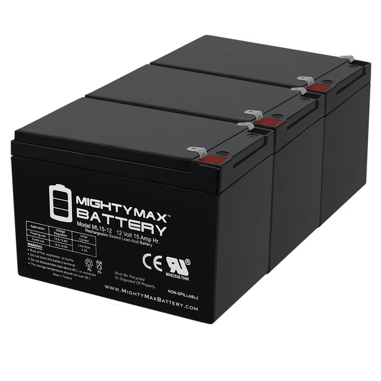 12V 15AH F2 Battery for GOAL ZERO YETI 150 SOLAR GENERATOR - 3 Pack