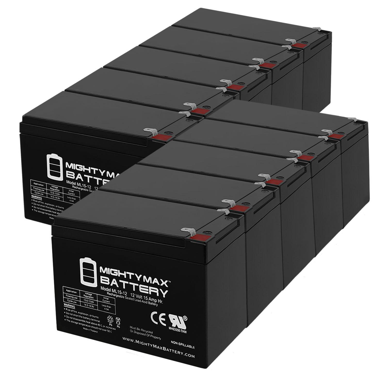 12V 15AH F2 Battery for GOAL ZERO YETI 150 SOLAR GENERATOR - 10 Pack