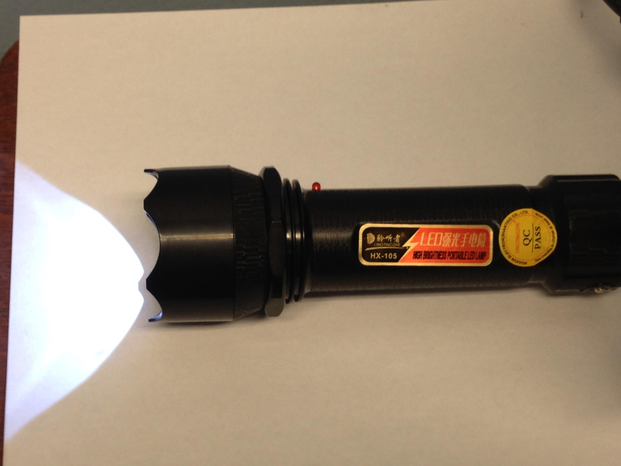 1 LEDx0.5W plastic LED hand torch light, rechargeable flashlight, handheld search light