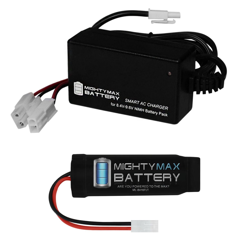 8.4V NiMH 1600mAh Flat Pack Mini Battery + 8.4V-9.6V NiMH Smart Charger
