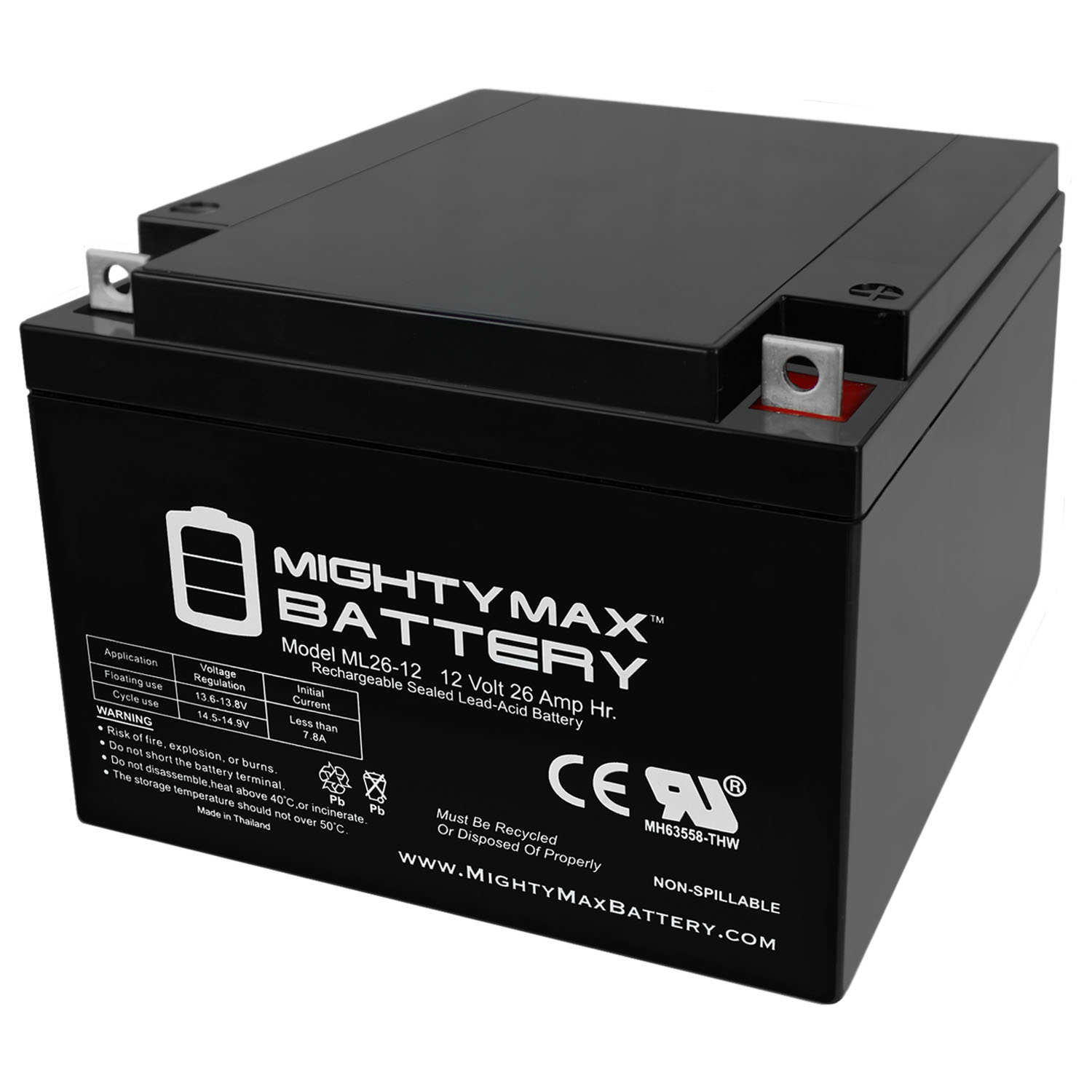 ML26-12 12V 26AH Replacement Battery compatible with Power Patrol SLA1145