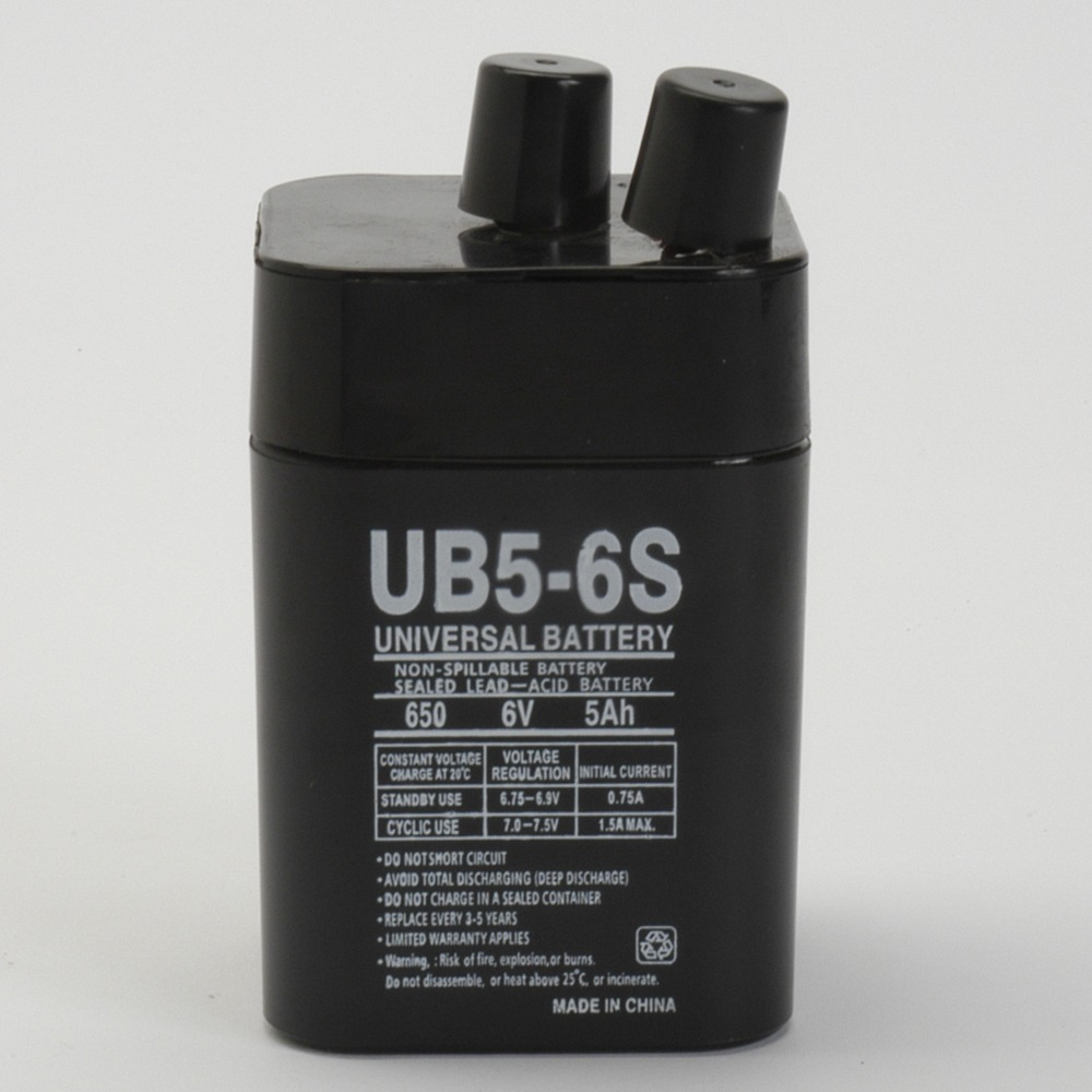 6V 5Ah SLA Replacement Battery for Dependable Energy DE-30045
