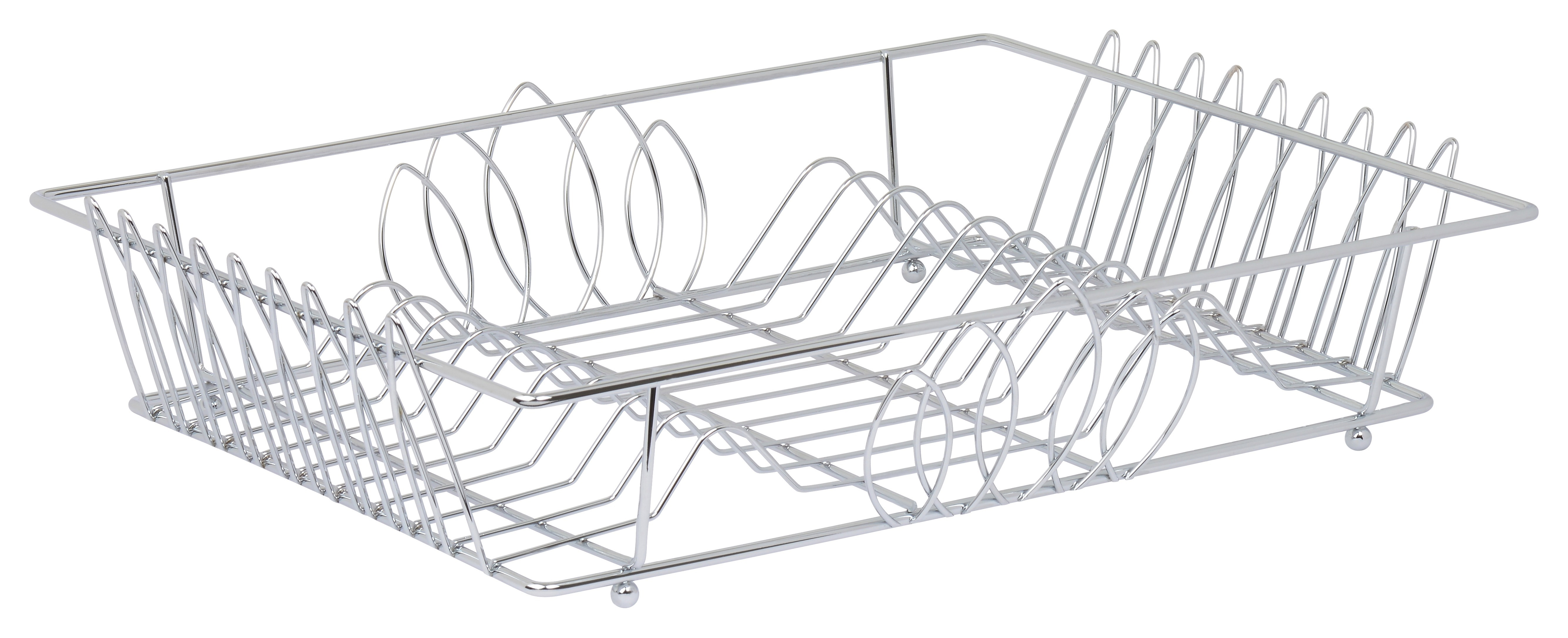 Dish Rack - High Quality Stainless Steel with Shiny Chrome Polish