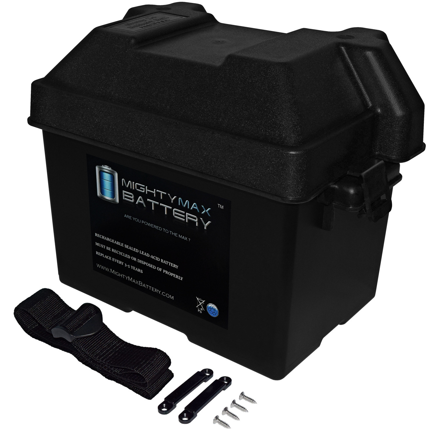 Group 24 Battery Box for Automotive, Marine, and RV Batteries