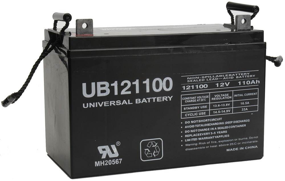12V 110Ah AGM Battery Replaces Simplex 2081-9280 Fire Alarm Control Panel
