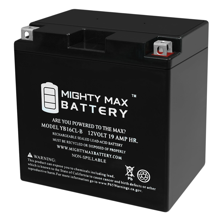 YB16CL-B 12V 19AH SLA Battery Replaces Yamaha 1800 FZS VXS VXR 13-20