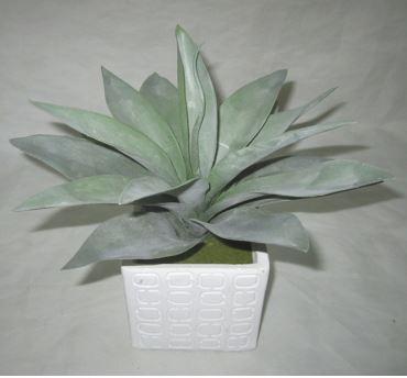 Faux Aloe in Cement Pot #19