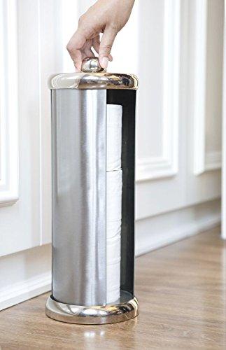 BathSense Easy Turn Toilet Paper Holder Brushed Satin Nickel