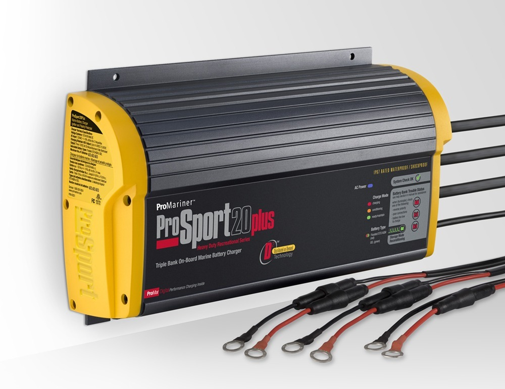 ProSport 20 Plus Gen 3 20Amp 12/24/36V Charger for Cajun Bass Boat