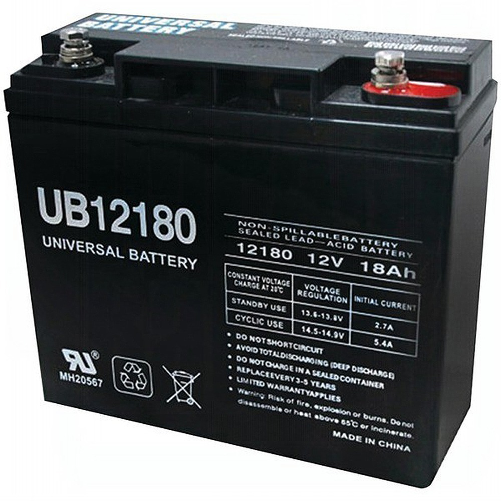 Ub12180 12v 18ah Sla Internal Thread