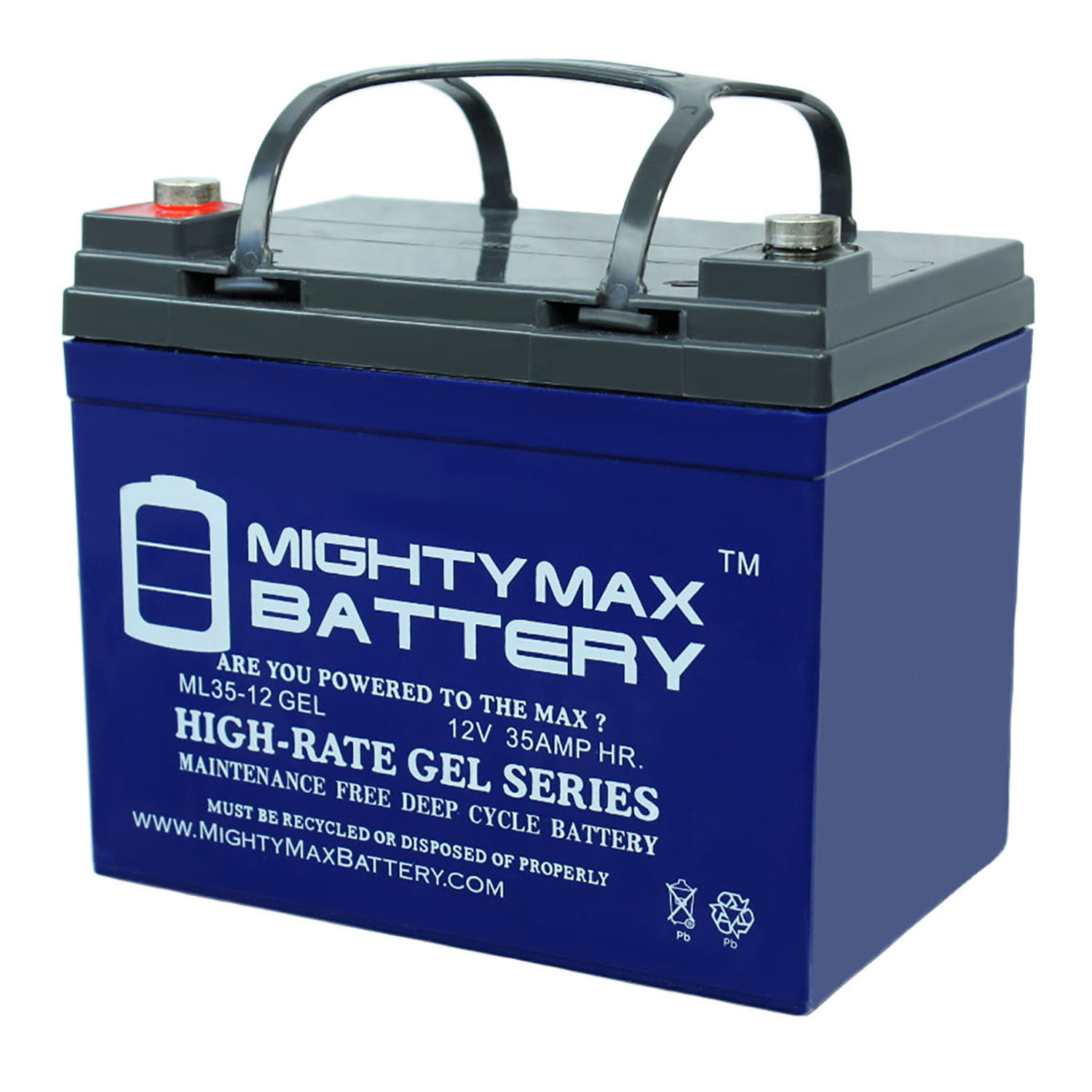 12V 35AH GEL Replacement Battery compatible with Sigmas SP12-35