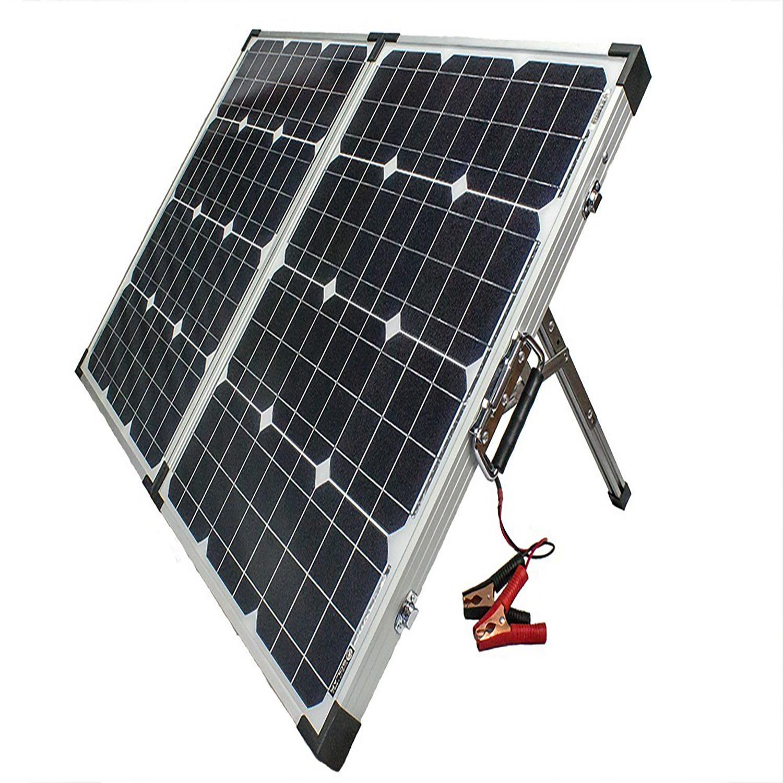 100W 12V Mono Foldable Solar Panel for Trucks + 10A Controller