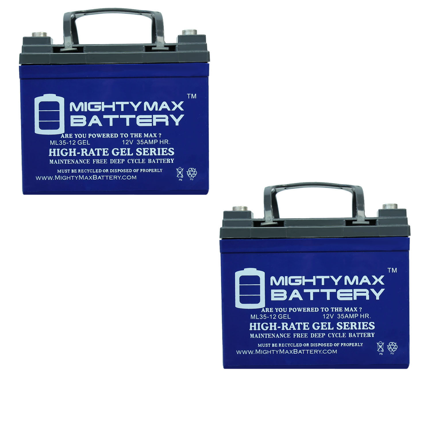 12V 35AH GEL Replacement Battery compatible with Minn Kota Sevylor Light Trolling - 2 Pack