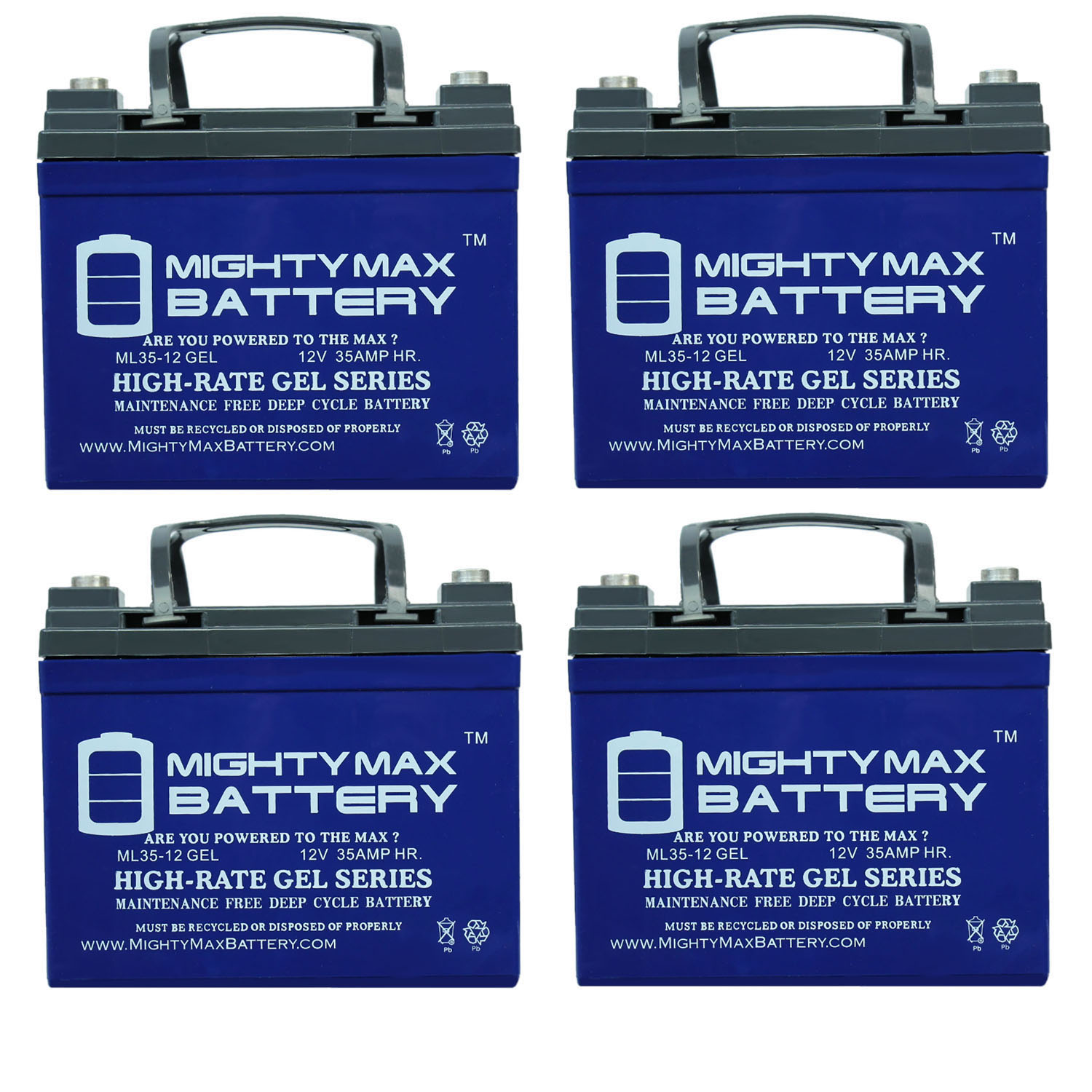 12V 35AH GEL Replacement Battery compatible with Sigmas SP12-35 - 4 Pack