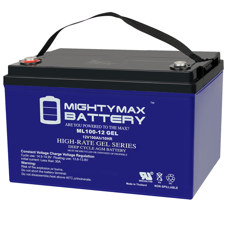 12V 100AH GEL Battery Replaces Solar Wind Deep Cycle VRLA 12V 24V 48V