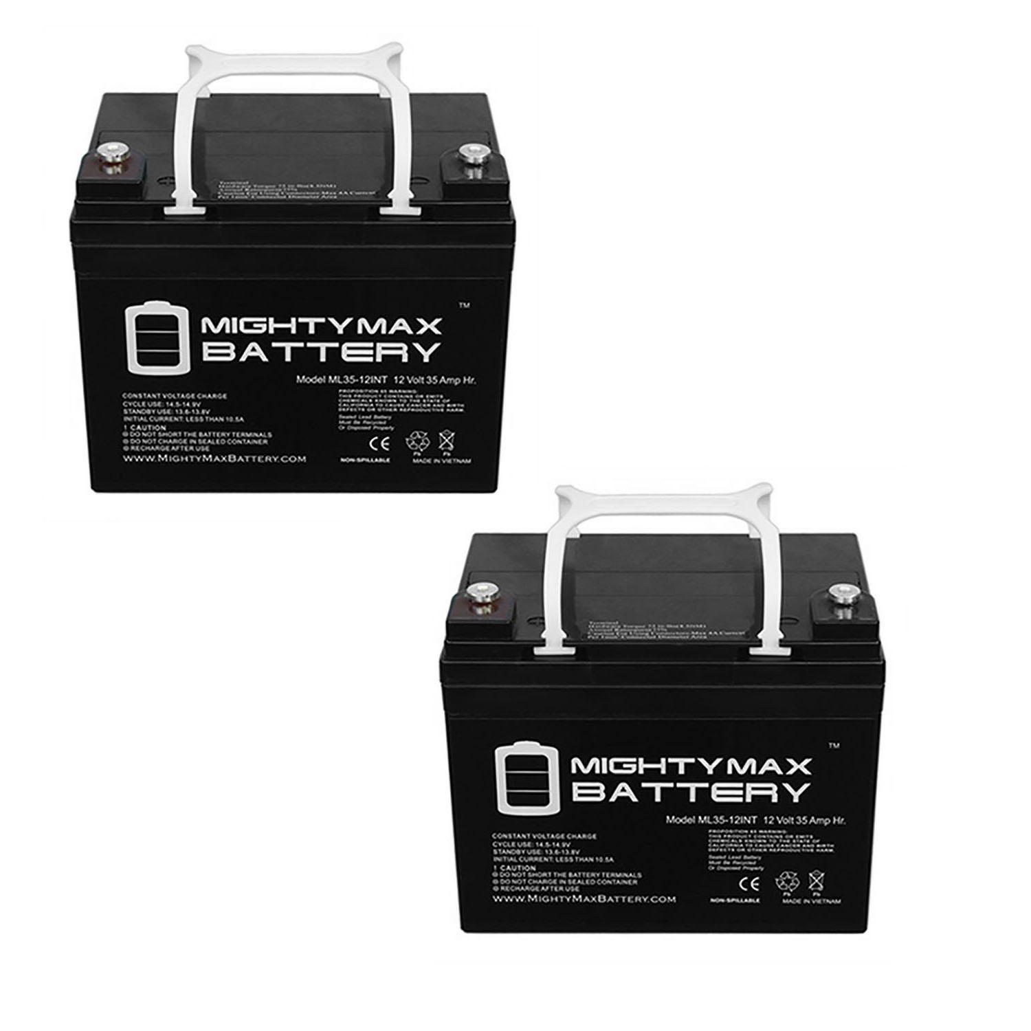 12V 35AH INT Replacement Battery compatible with Interstate DCM0035 Wheelchair - 2 Pack