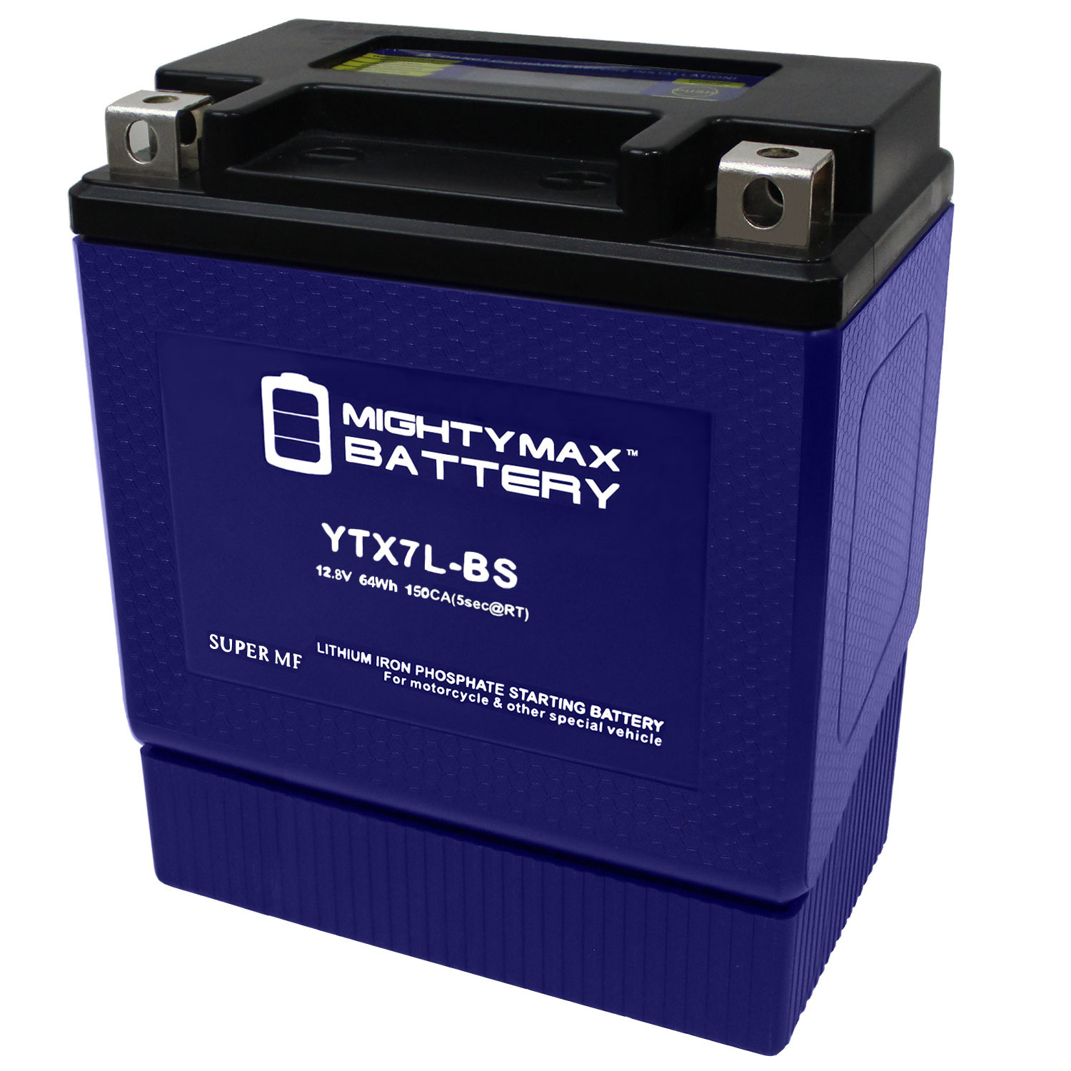 YTX7L-BS 12V 140CCA Lithium Iron Phosphate Battery