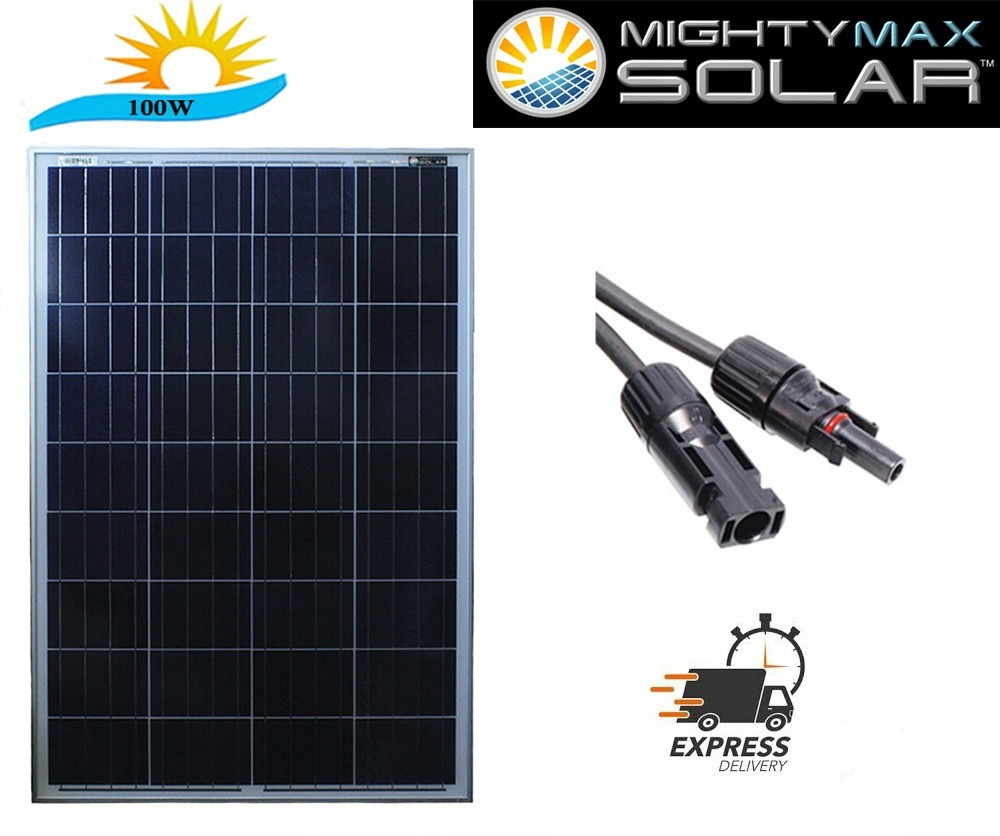 BLEMISHED 100 Watt 100W 12V 12 Volt Solar Panel Battery Charger RV Boat Off Grid