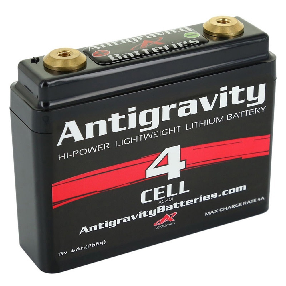 Antigravity Batteries AG-401 Lithium Motorcycle Battery 120 CCA 4-Cell 12V