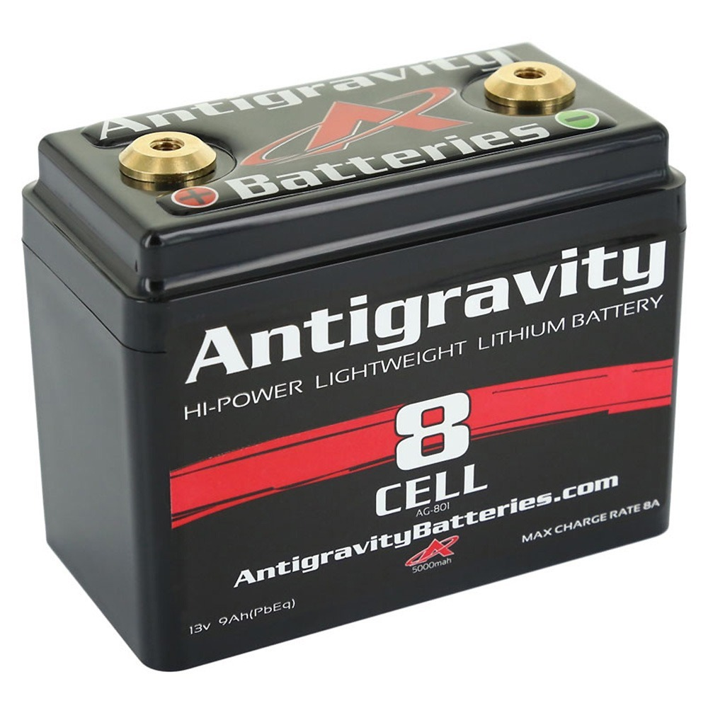 Antigravity Batteries AG-801 Lithium Motorcycle Battery 240 CCA 8-Cell 12V