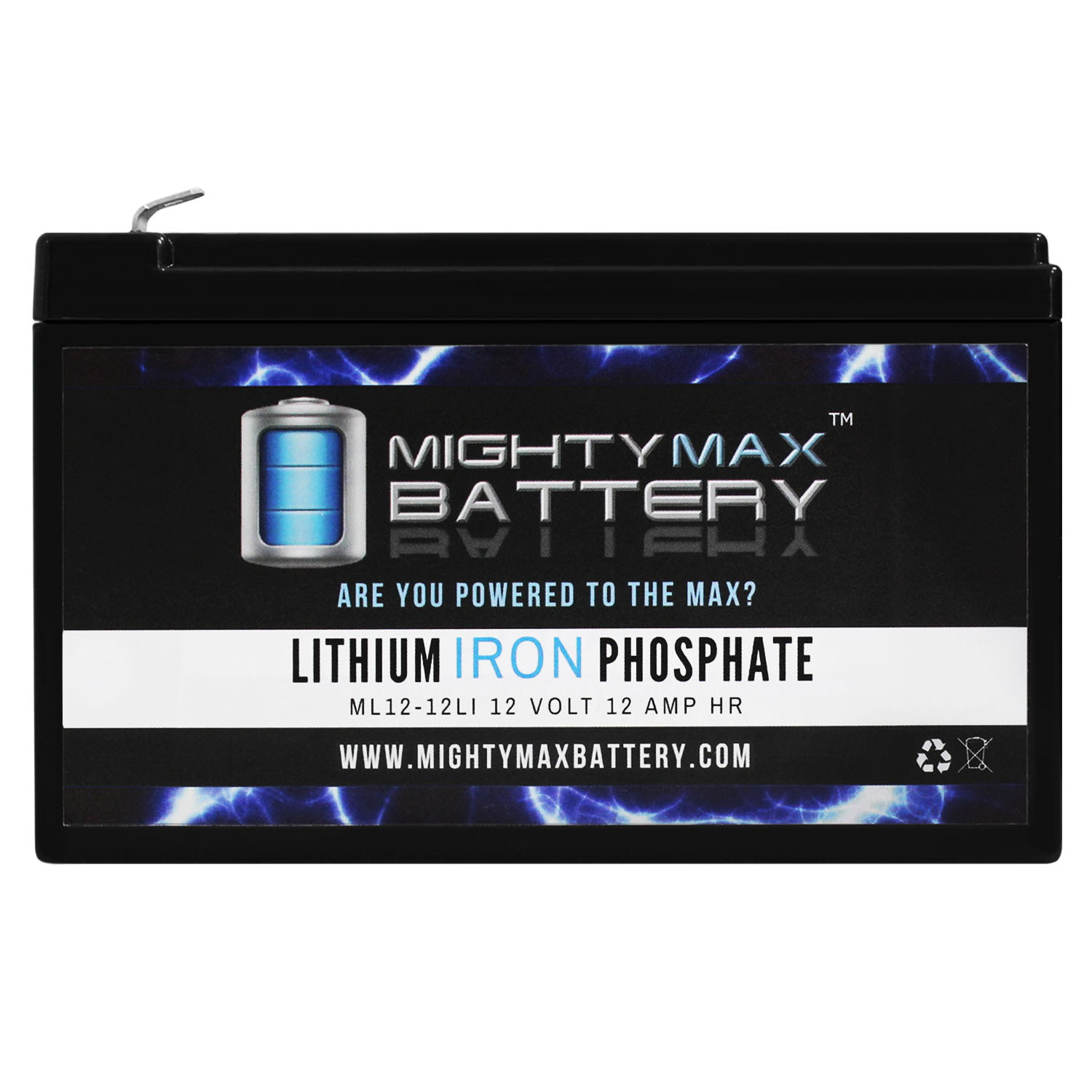 12V 12Ah Lithium Replacement Battery compatible with Power Patrol SLA1104