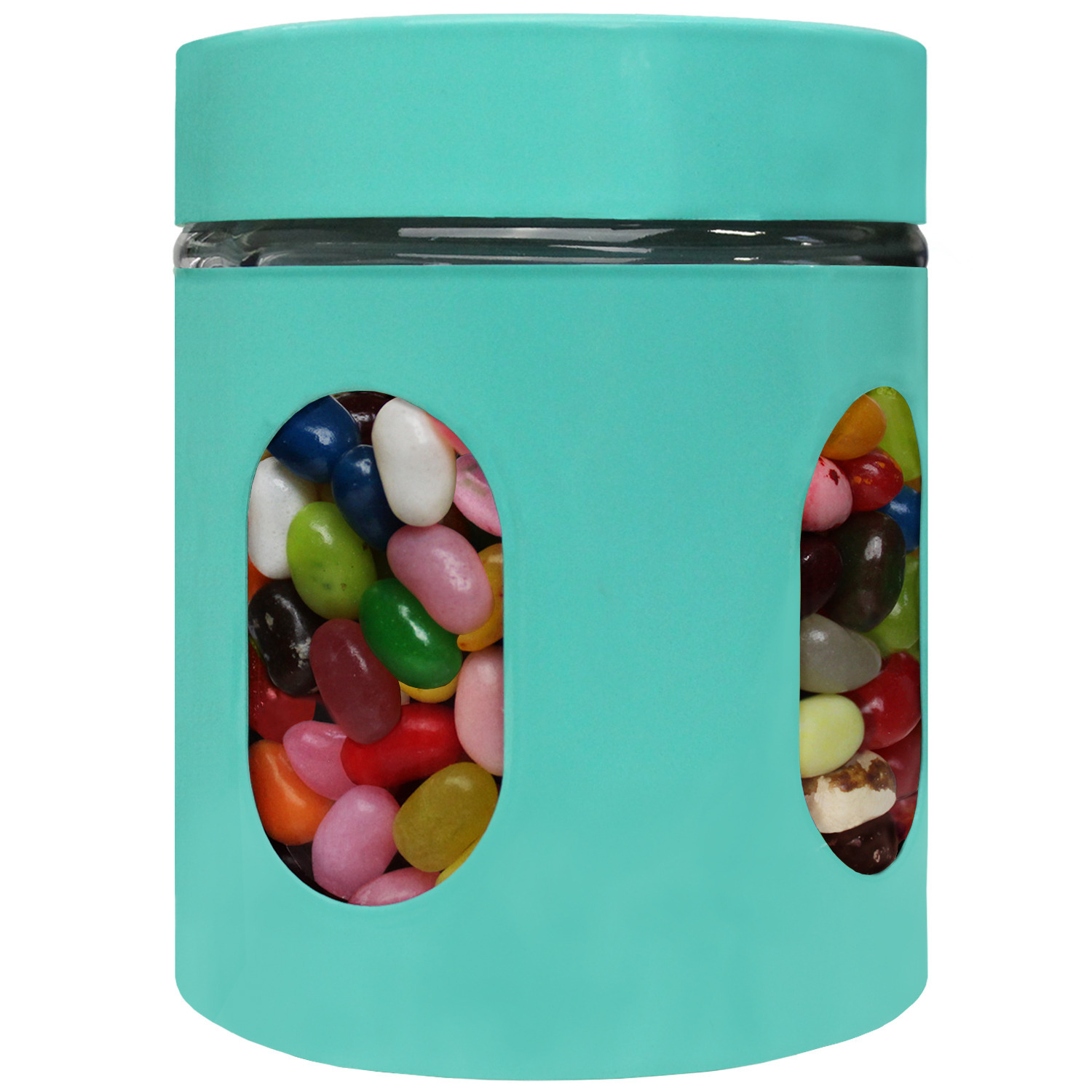 Blue Donuts 21oz Stainless Steel Canister with Window - Turquoise