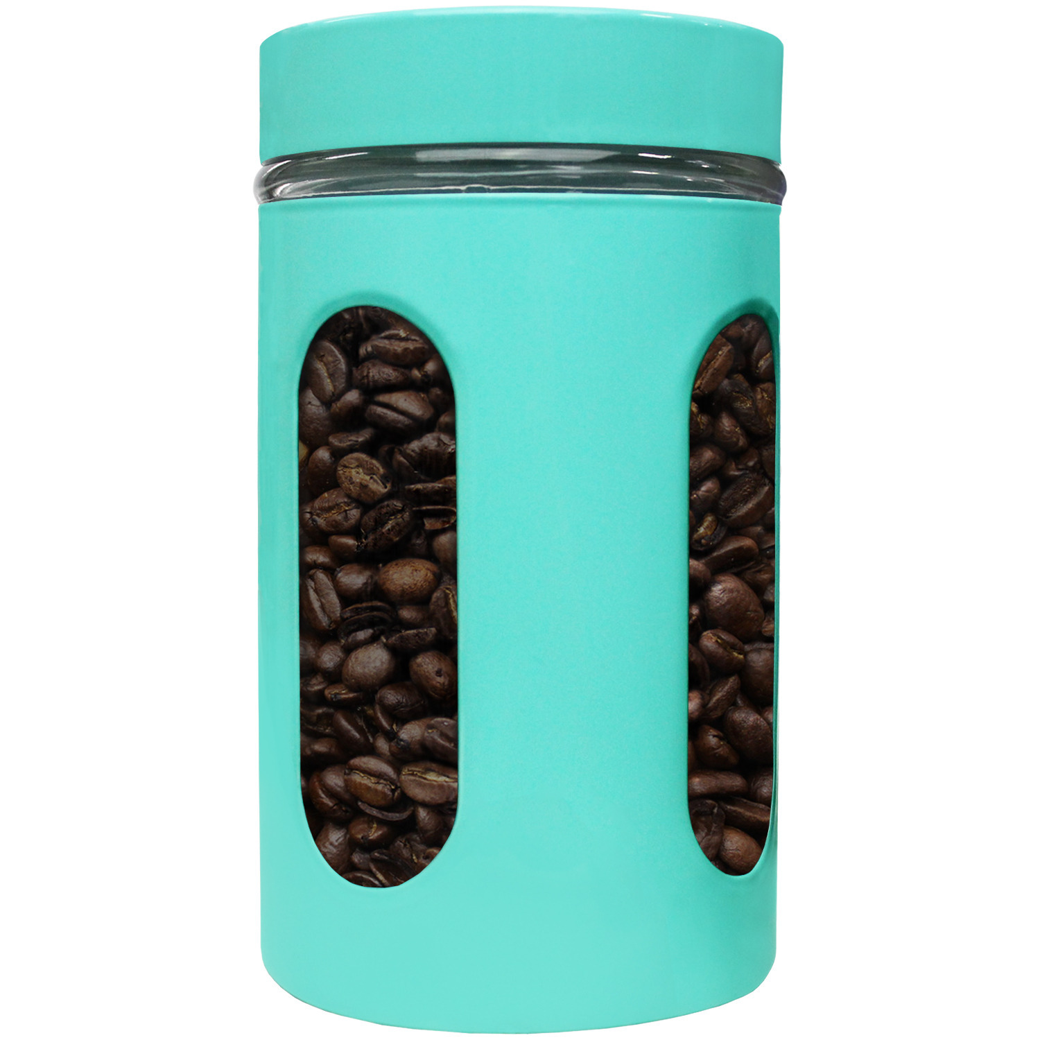 Blue Donuts 32oz Stainless Steel Canister with Window - Turquoise