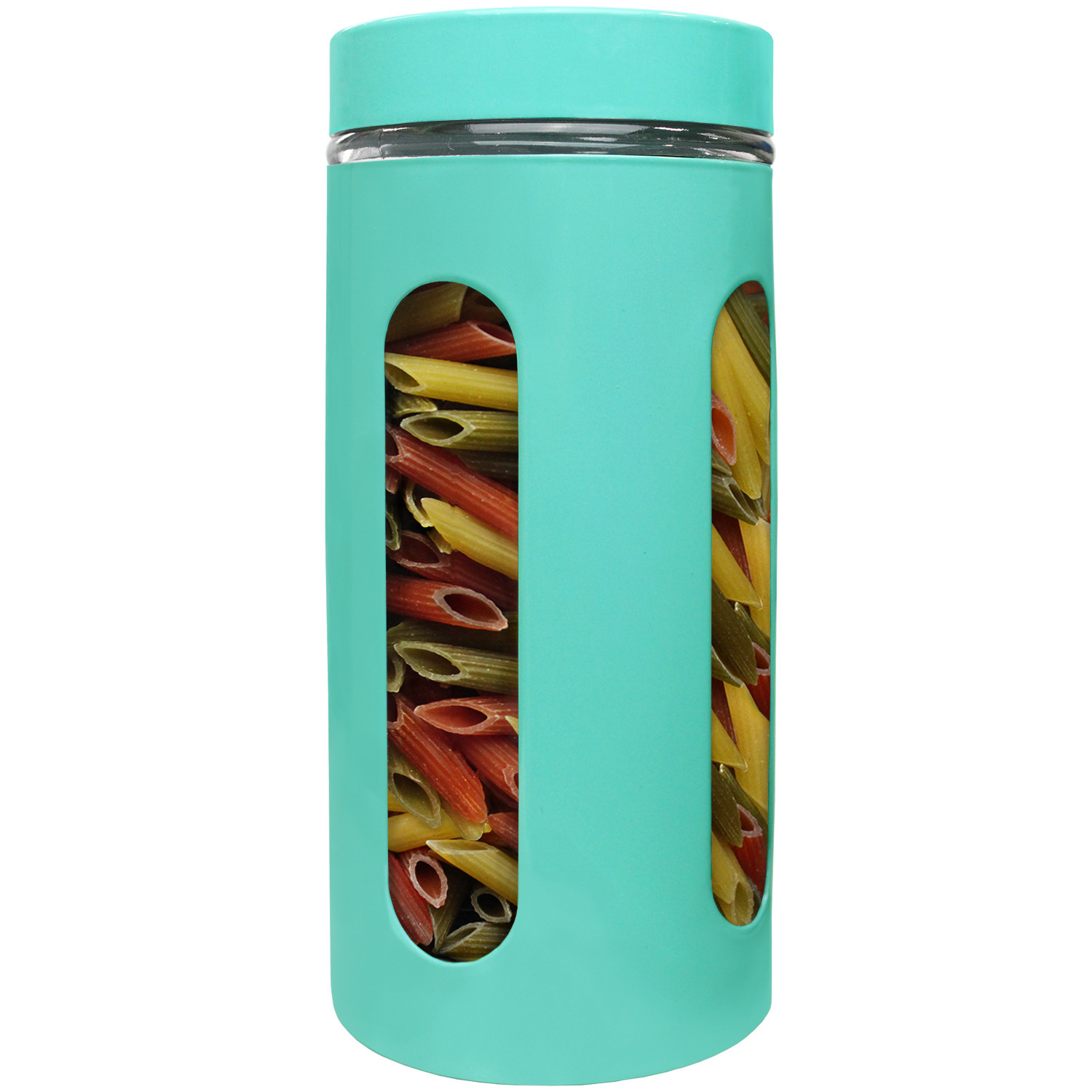 Blue Donuts 44oz Stainless Steel Canister with Window - Turquoise
