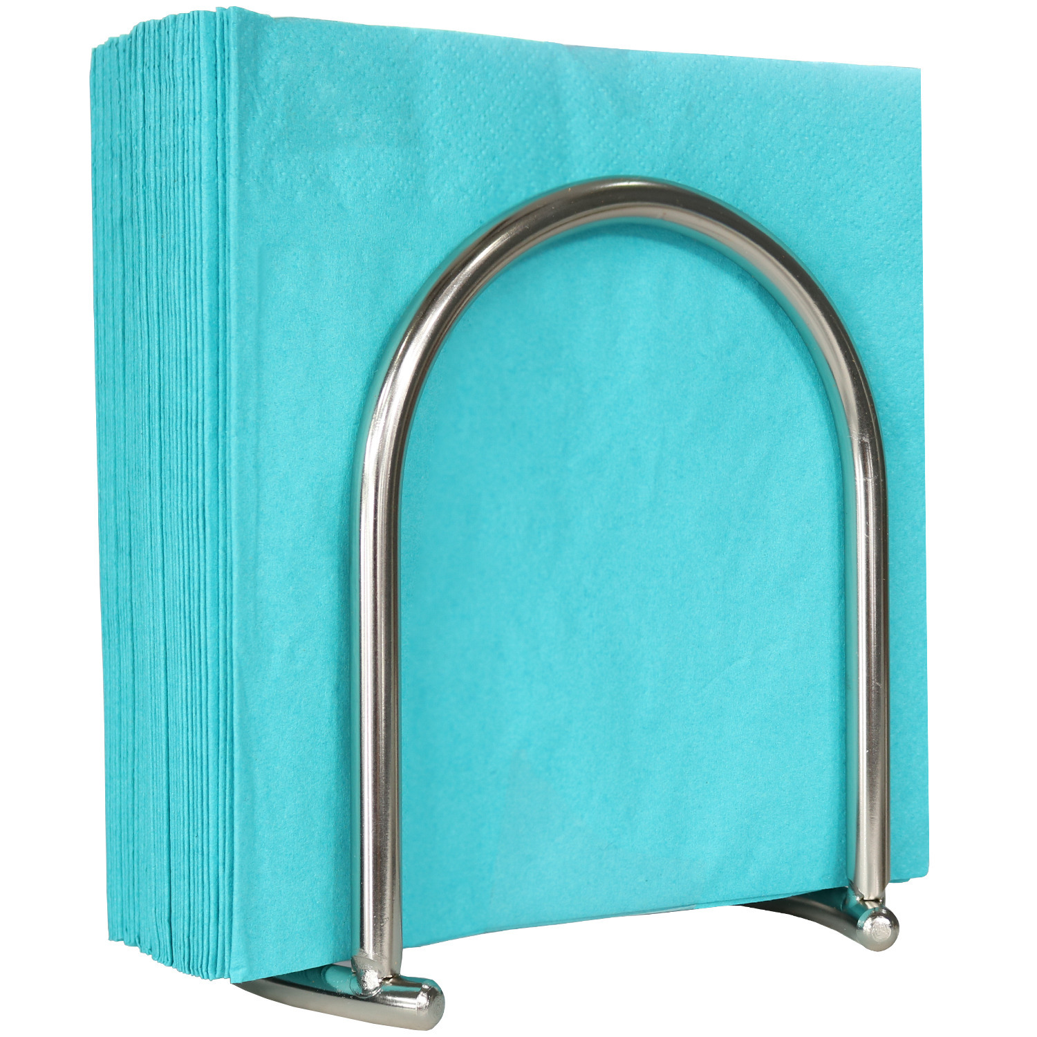 Blue Donuts Napkin Holder Satin Nickel