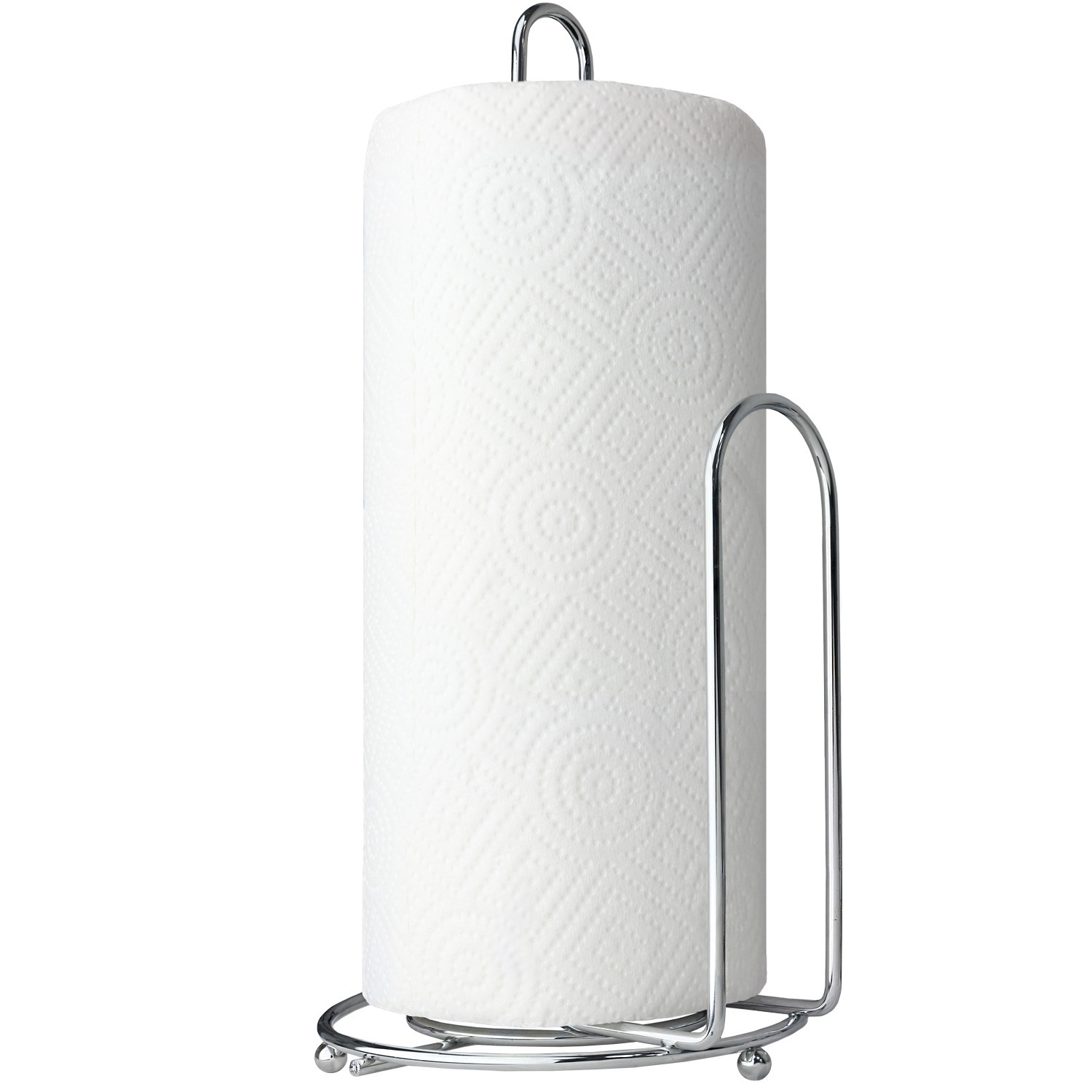 Blue Donuts Chrome Paper Towel Holder