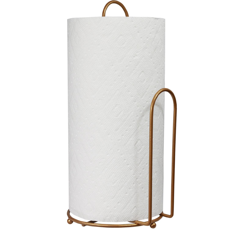 Blue Donuts Gold Paper Towel Holder